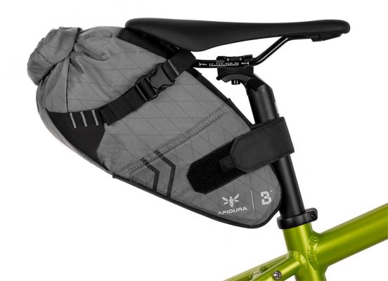 Close-up of the Bombtrack Saddle bag on a bike seat post