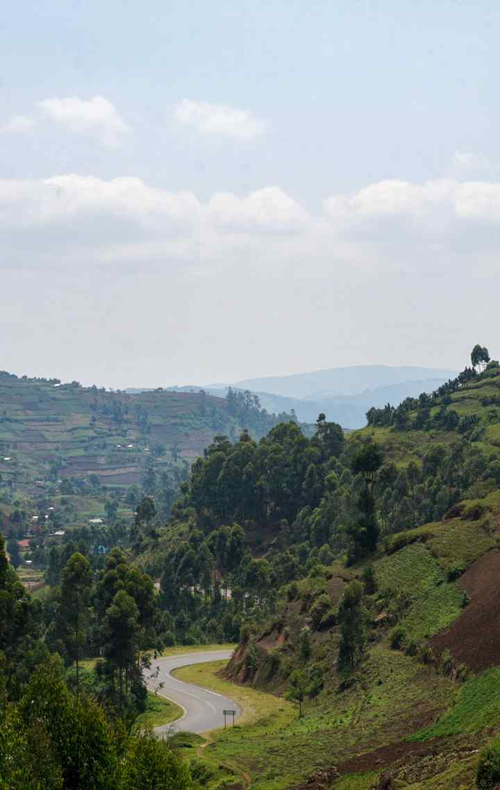 Rwanda Mountains landscape