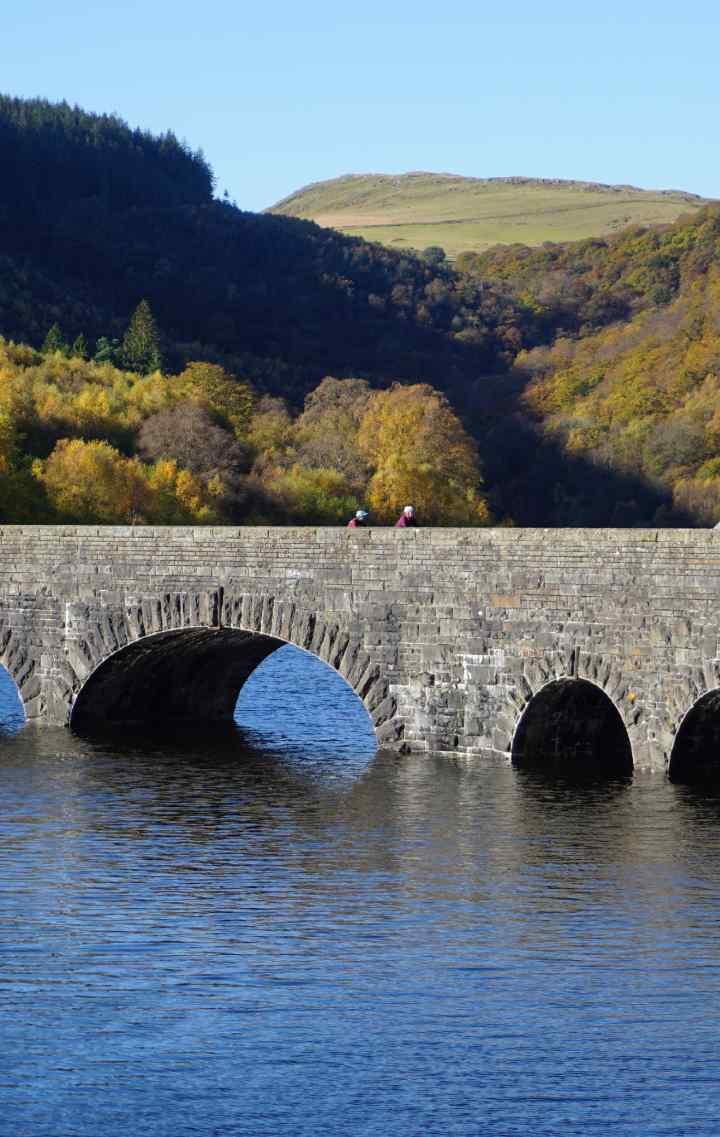 Wales reservoir bridge