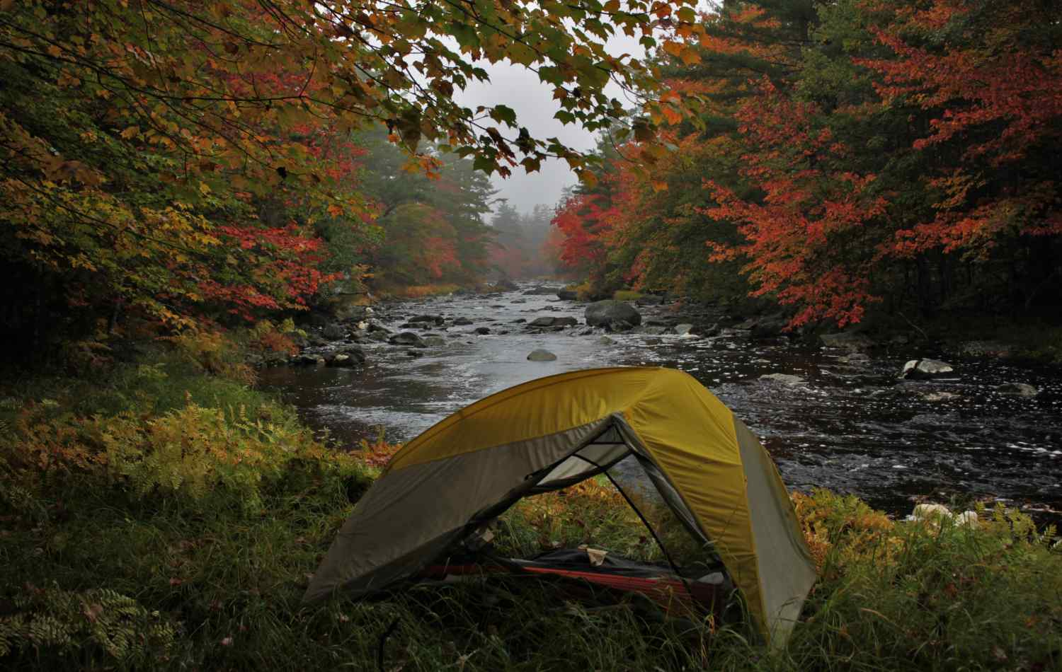 A tent in a Riverside