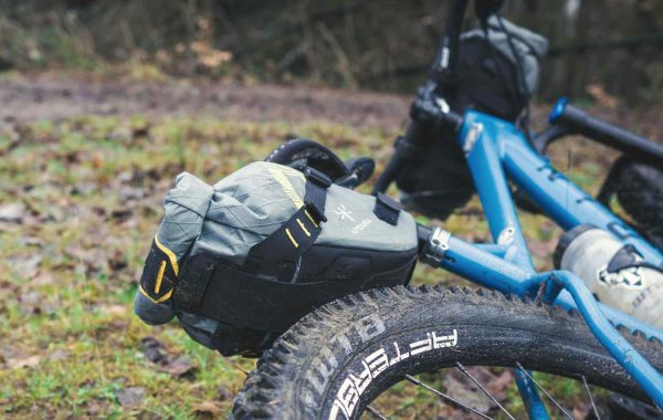 Dropper Saddle Pack on bike
