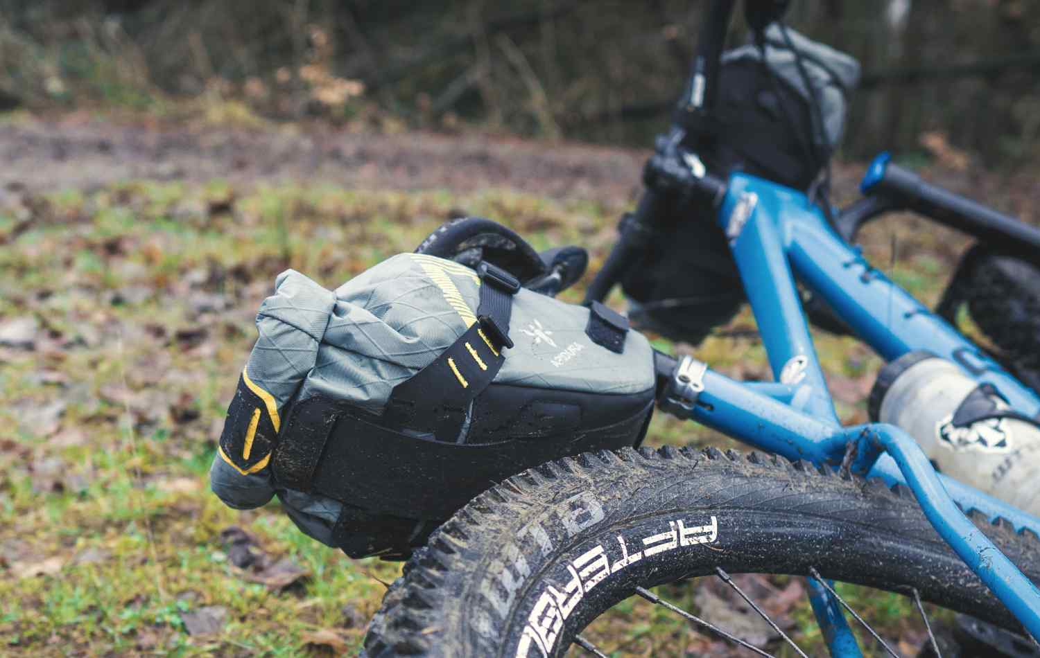 Dropper Saddle Pack on a Mountain bike