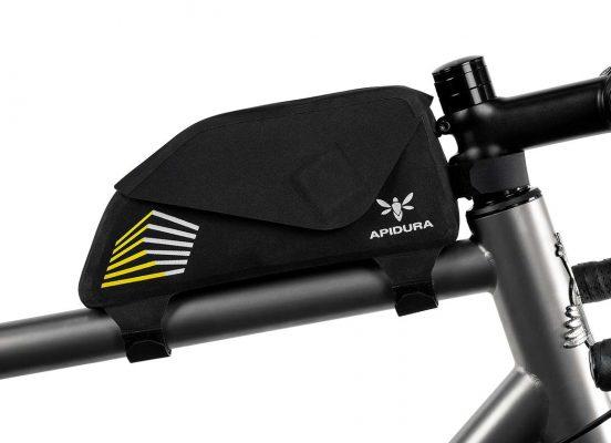 Apidura Top Tube bag on a frame bike close-up