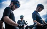 Three cyclists prepare to start The Japanese Odyssey bikepacking event