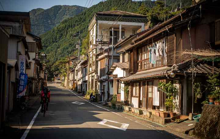 An empty street in rural Japan
