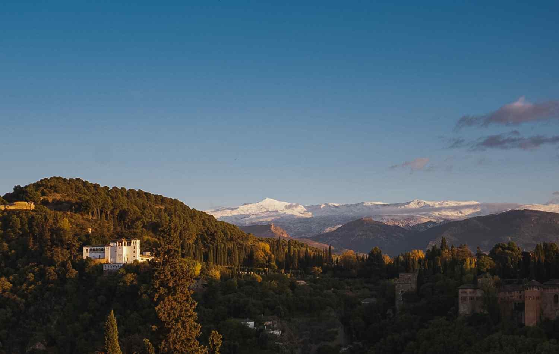 landscape of a mountain range: Sierra Nevada
