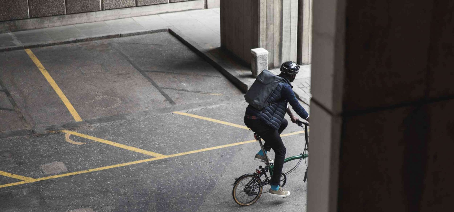 A cyclist in the city