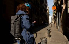Apidura City Backpack in the city