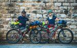 Scotti and Ernie with their full bikepacking set ups for bikerafting