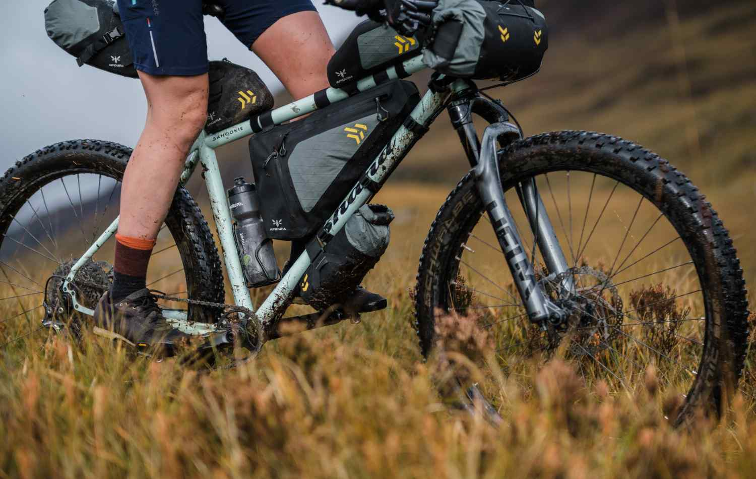 Jenny Tough's Shand Bahookie with a full complement of Backcountry bikepacking bags