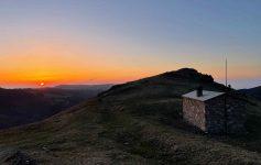Sunset on the mountain top