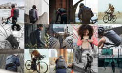 A collage of City Backpack testers