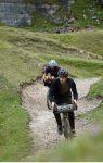 Two riders on gravel bikes bikepacking