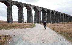 Ali rides beneath the Ribblehead Viaduct